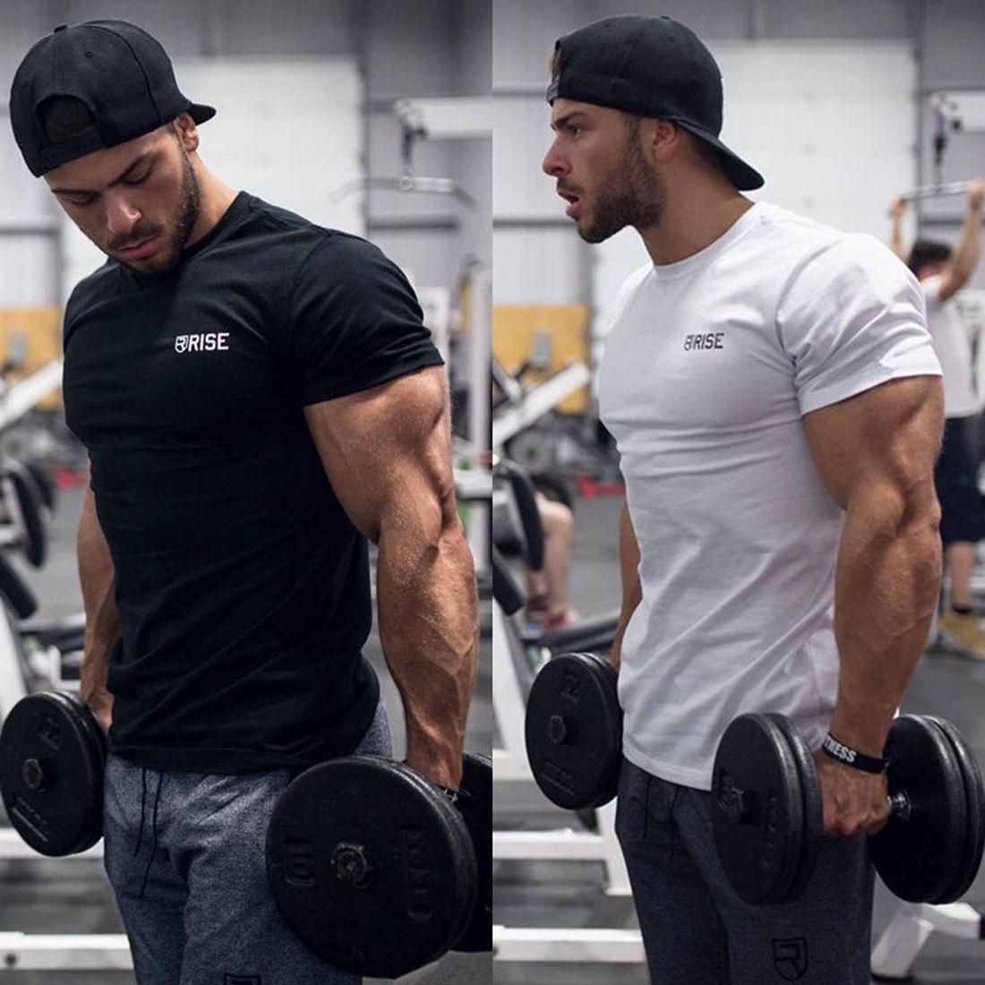 Bodybuilding Gym T Shirt Mens Workout Shirt Men Muscle Tee Men