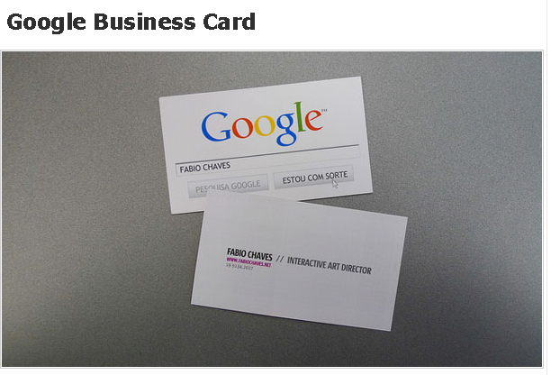 Google Business Card Design Business Cards Card Design