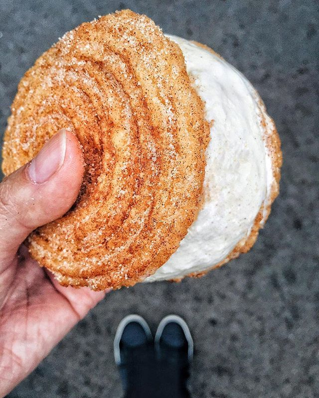 Image result for churro ice cream sandwiches