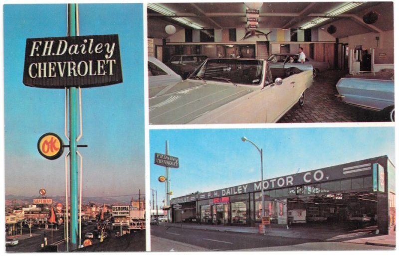 F H Dailey Chevrolet In The 1960s 4117 E 14th St Oakland Ca Oakland Period Color Oakland California
