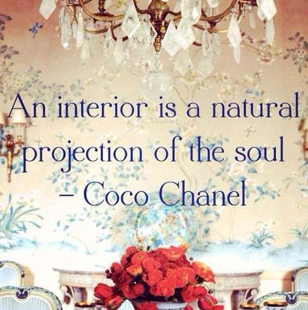 an interior is a natural projection of the soul coco chanel