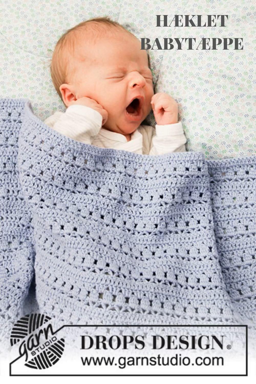 Photo of Hæklet Babytæppe | Gratis Hækleopskrift