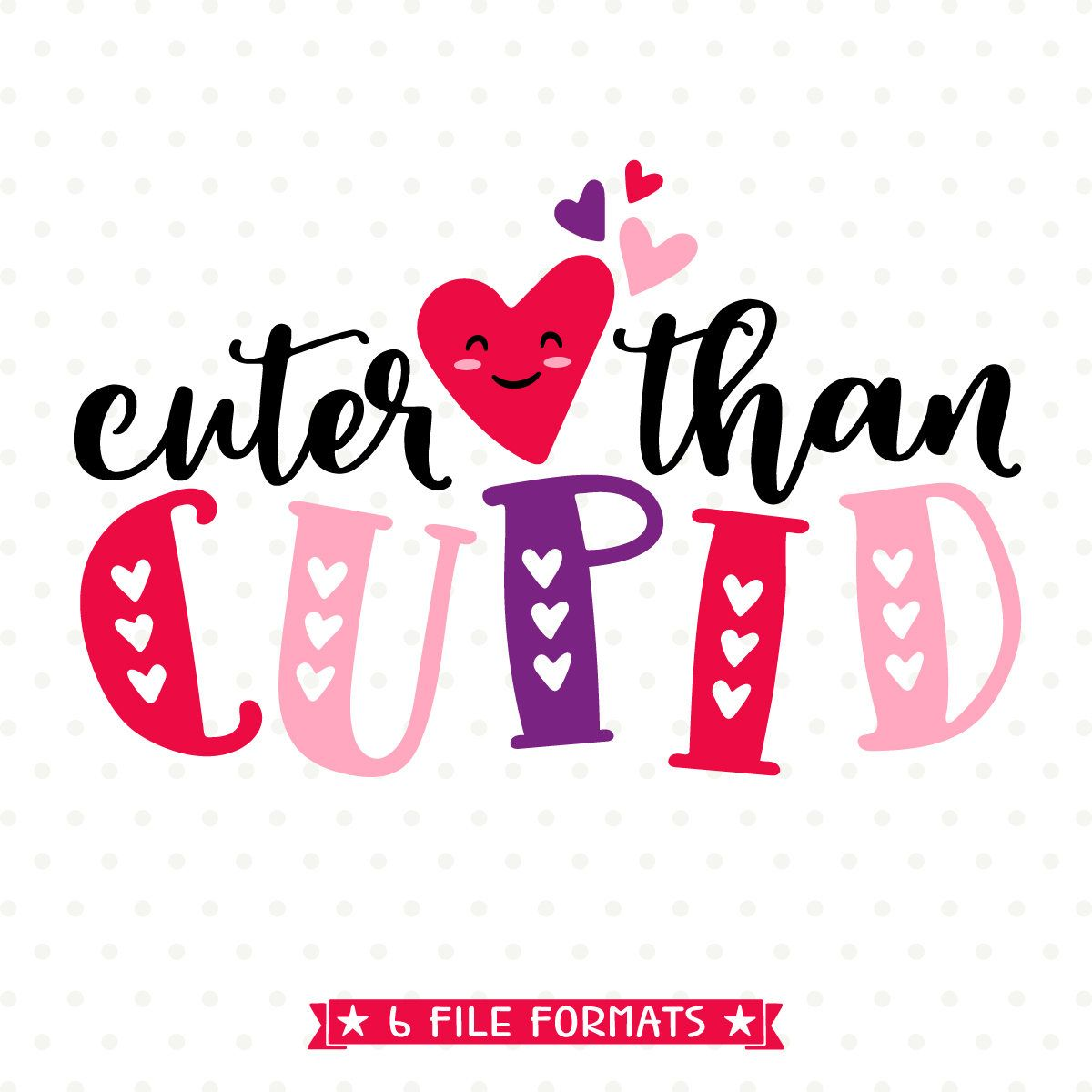 Kids Valentine Shirt Iron On File Valentines Day Svg Cuter Than