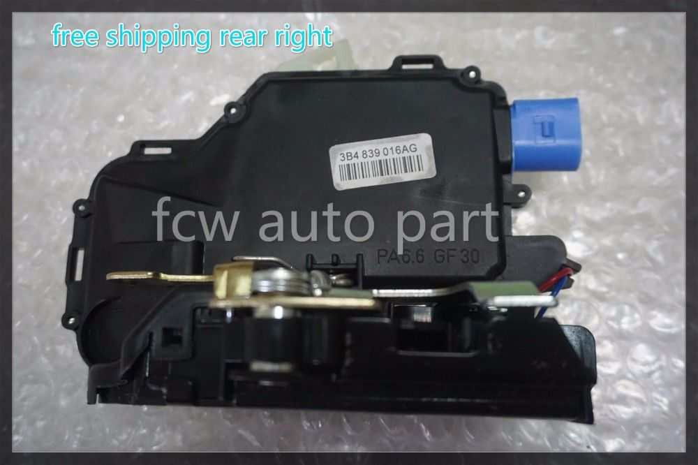 Free Shipping Best Quality 3b4839016ag Rear Right Side Door Lock Actuator For Vw Polo 9n Vw T5 Transporter Caravelle Multivan Multivan Vw Polo Vw T5