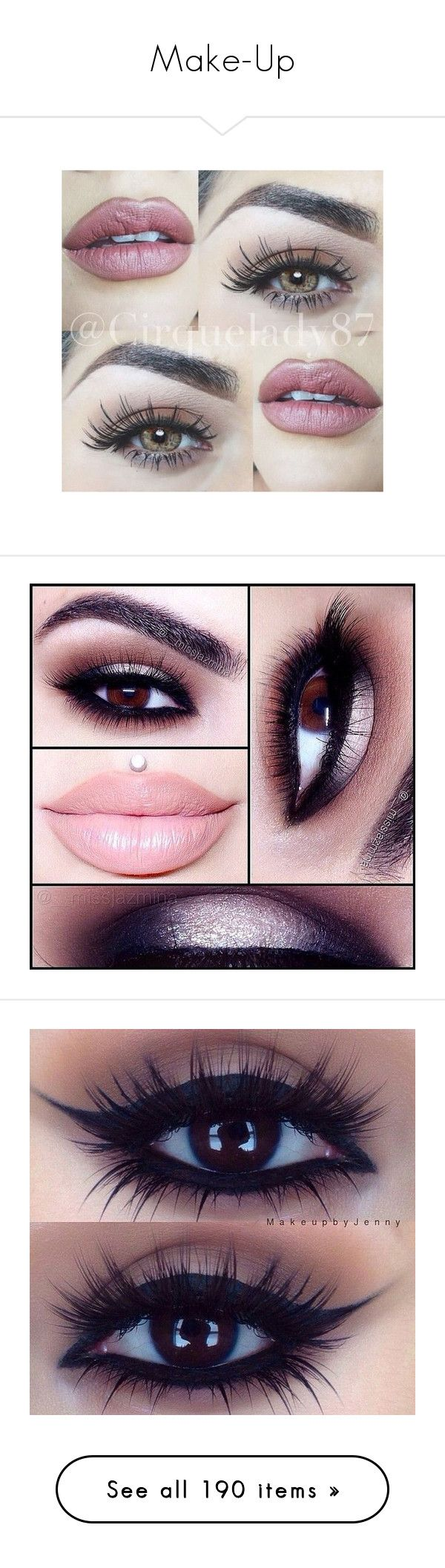 """""""Make-Up"""" by gisella-jb-pintos ❤ liked on Polyvore featuring beauty products, makeup, eyes, eye makeup, lips, beauty, maquiagem, fillers, gloss makeup and glossy eye makeup"""