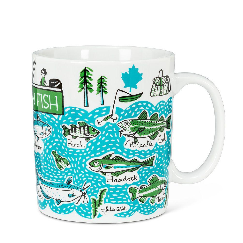 Canadian fish jumbo mug mugs fun illustration fish