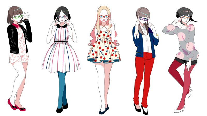 Anime girls in clothes with awesome glasses | modaa | Pinterest | Anime Clothes and Glass