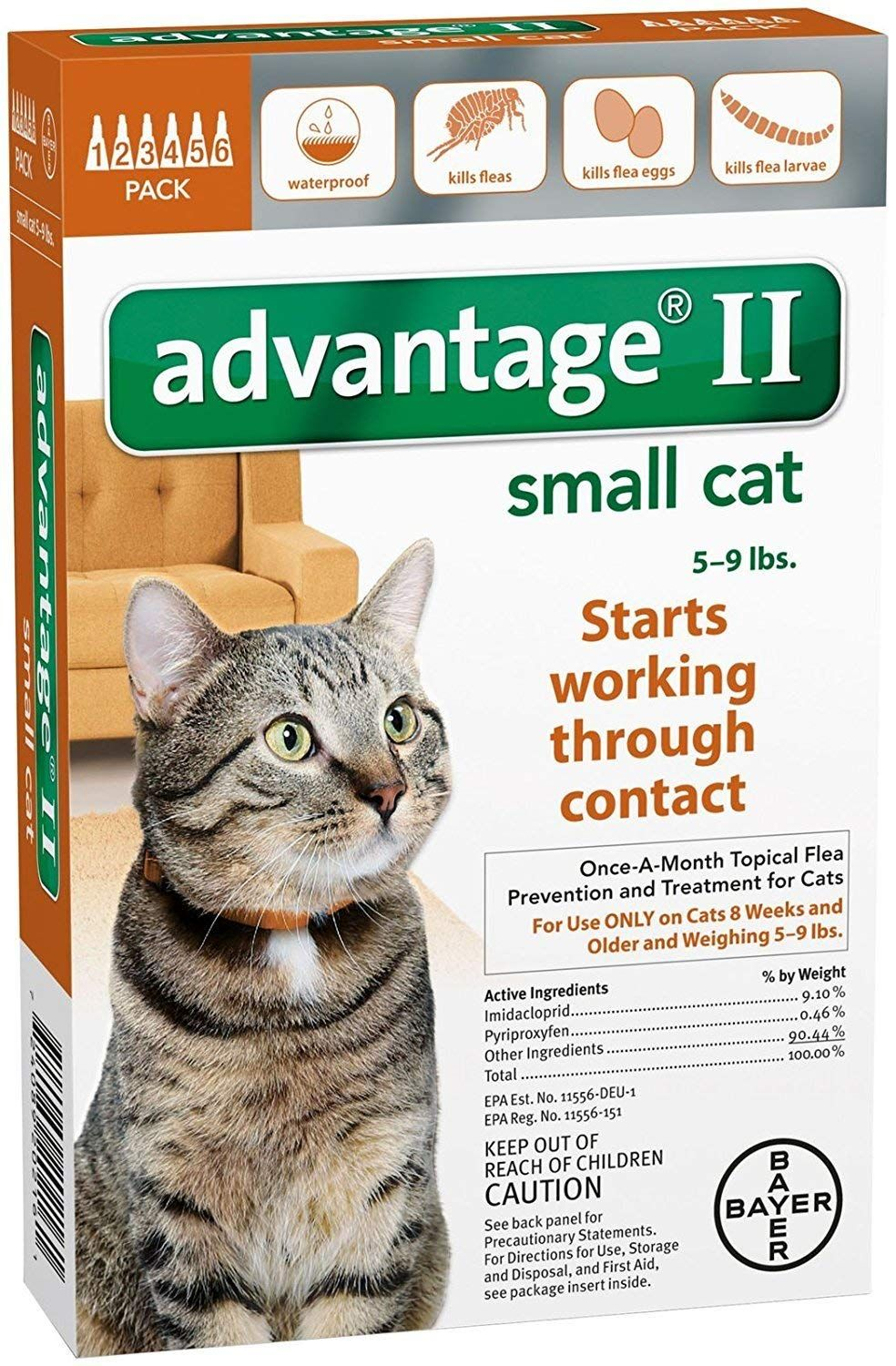 Advantage Ii Small Cat 6 Pack Read More At The Image Link This Is An Affiliate Link Friends Fleas Small Cat Cat Fleas