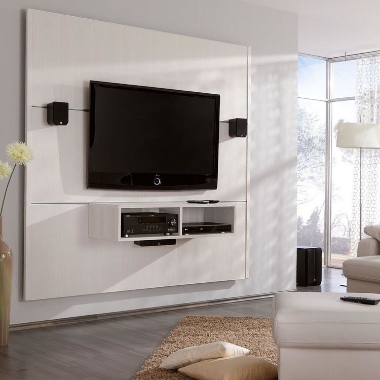 Televisions To Suspend Cables Hide Winding Panel Tv Wound White Cinewall Tv Wall Furniture Tv Wall Wall Paneling