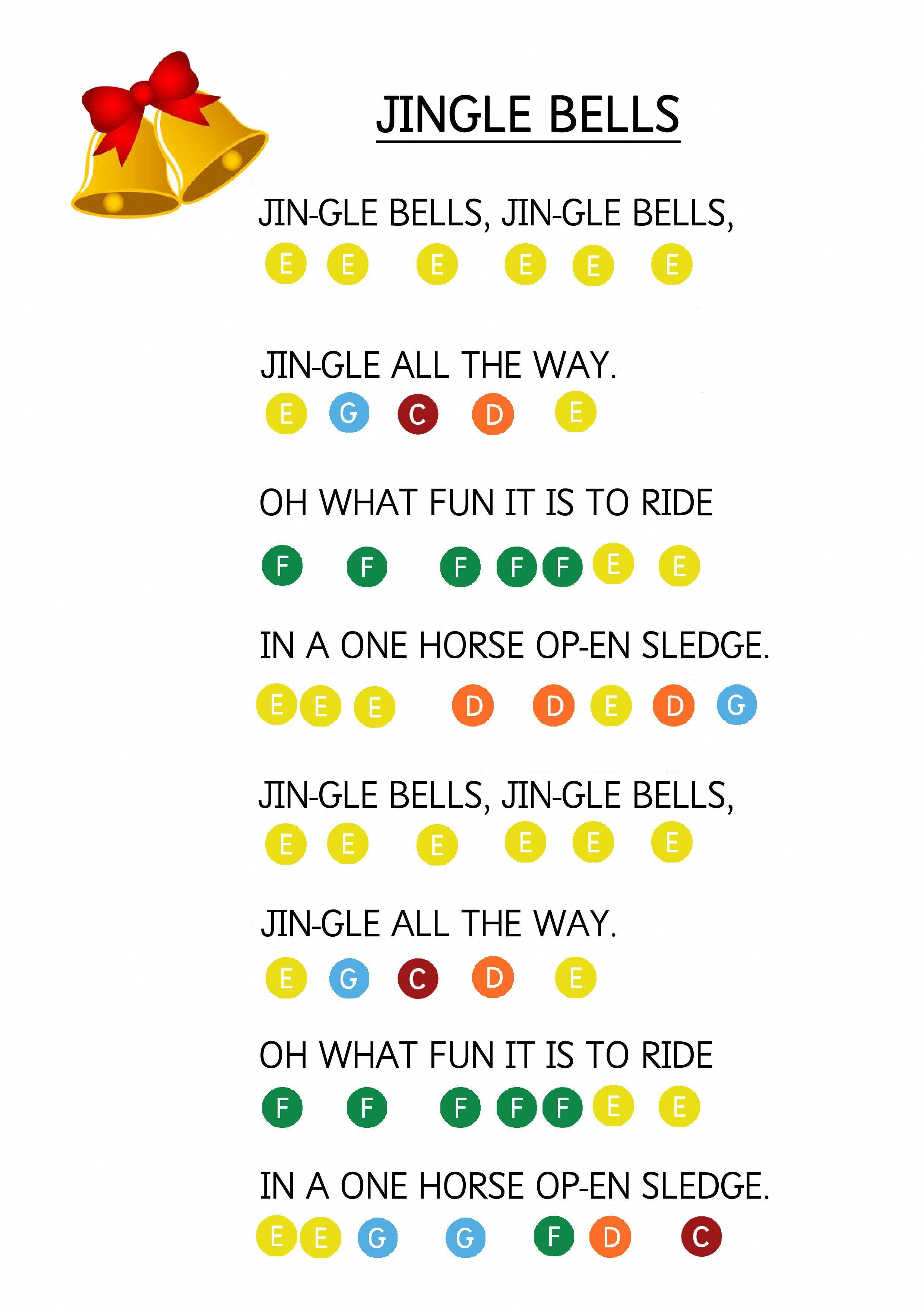 Jingle Bells Easy Piano Music Sheet For Toddlers How To Teach