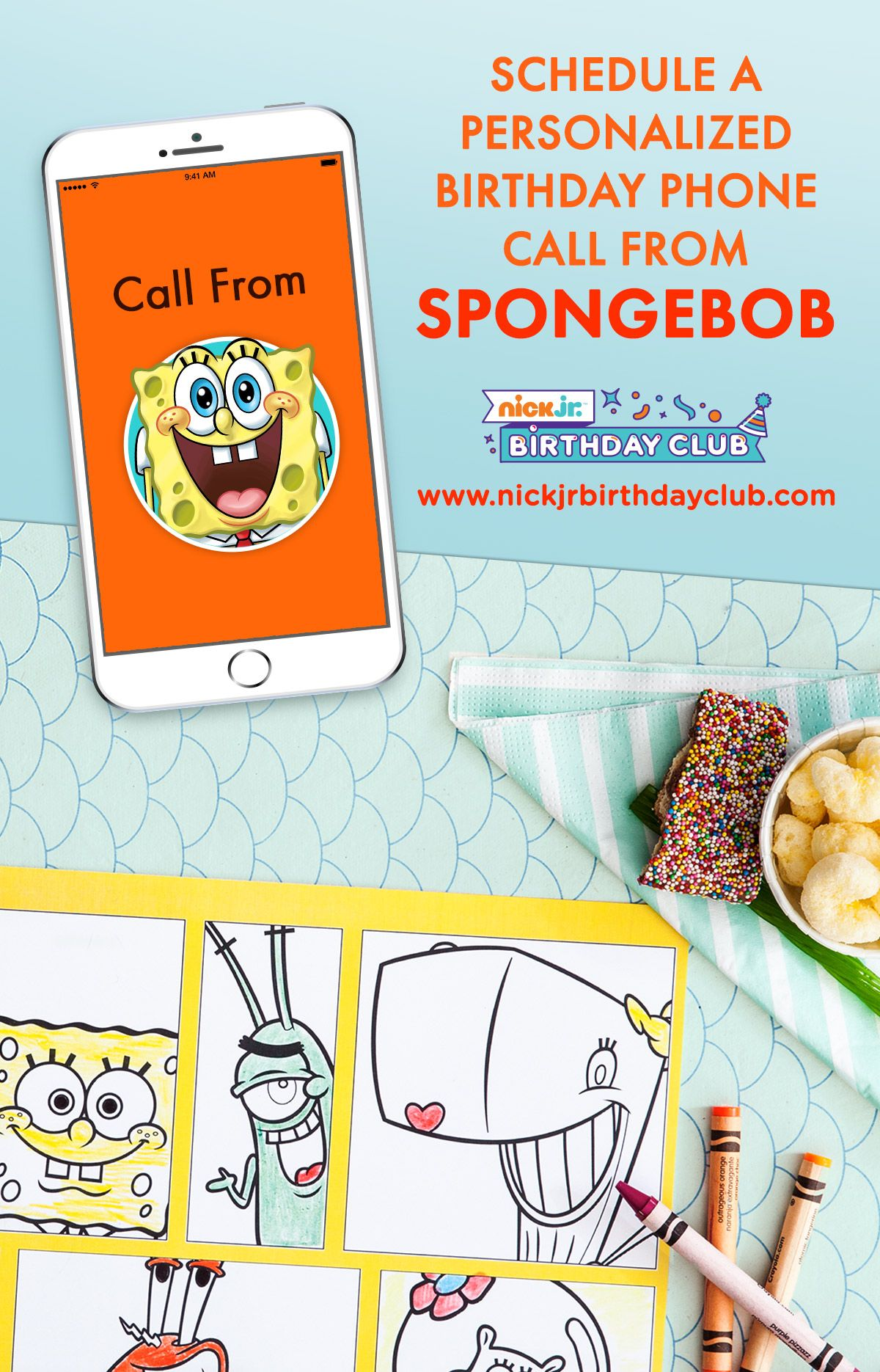 planning a spongebob squarepants birthday party for your kid