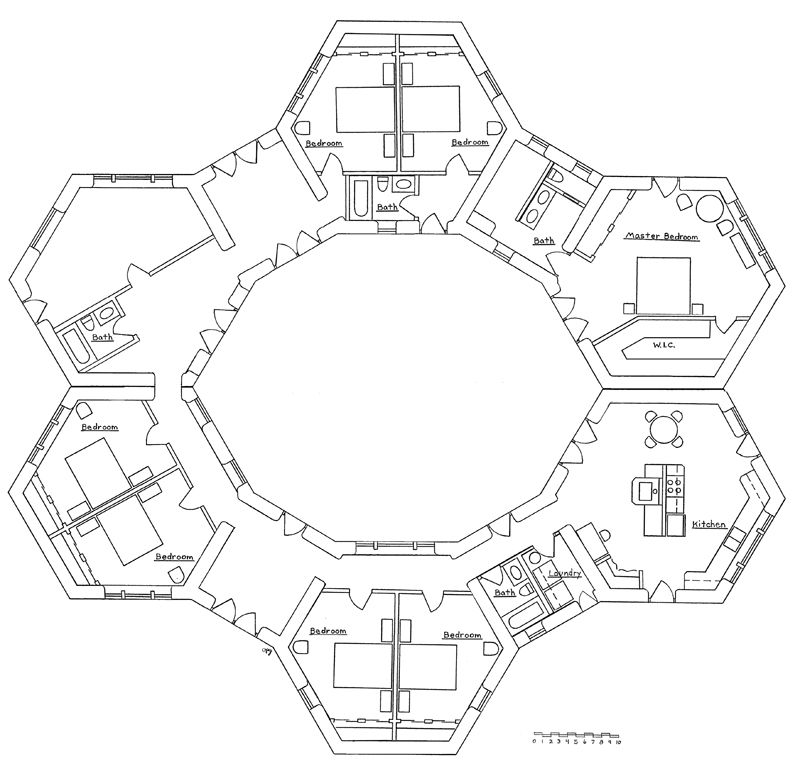 Cluster designs building house and earth for Cluster house plans