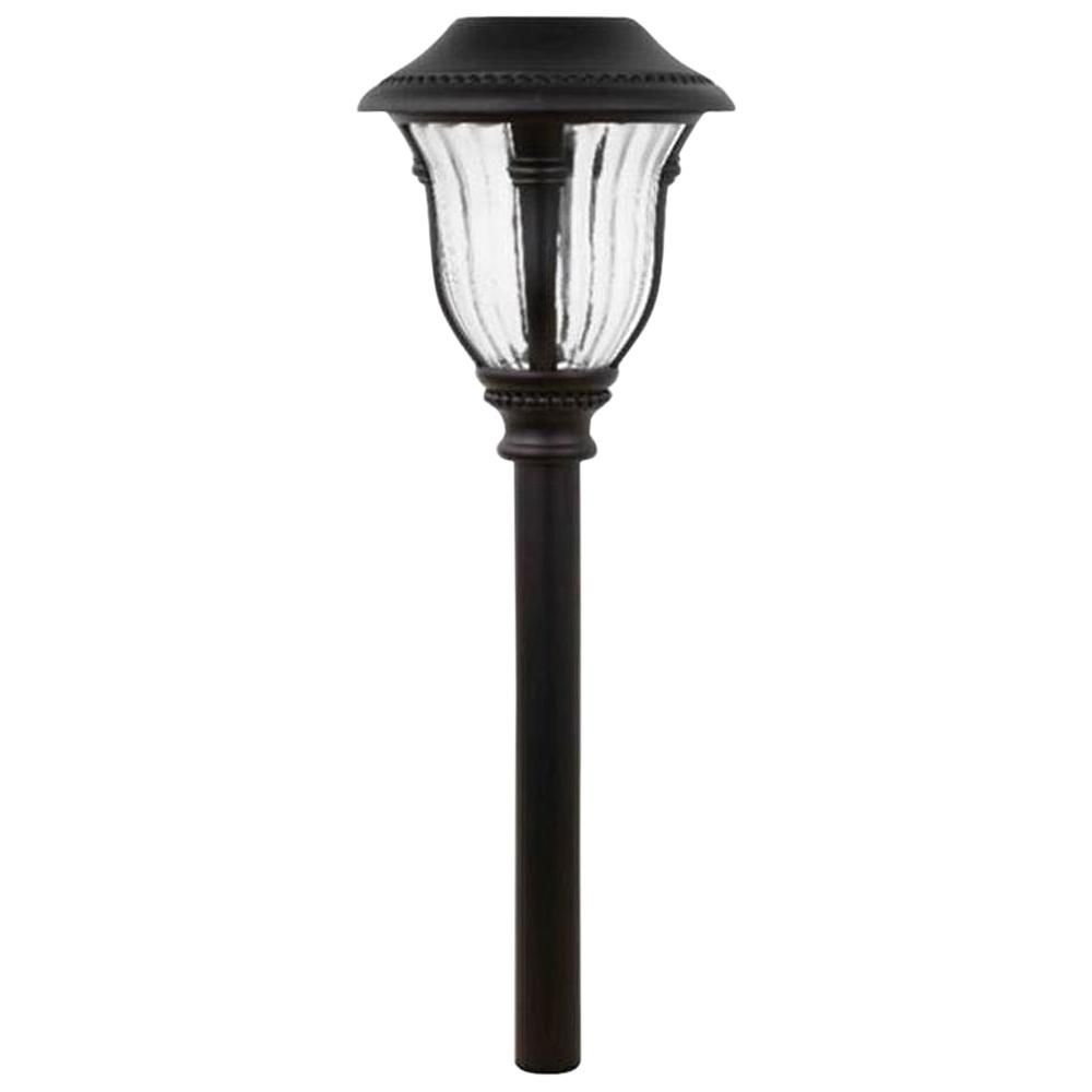 Hampton Bay Solar Bronze Outdoor Integrated Led Landscape Path Light With Ribbed Glass Lens 6 Pack In 2019 Products Path Lights Pathway Lighting Landsc