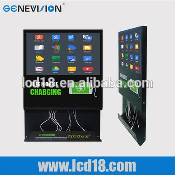 21 5 Lcd Mobile Phone Charging Station Player Android Touch Mall