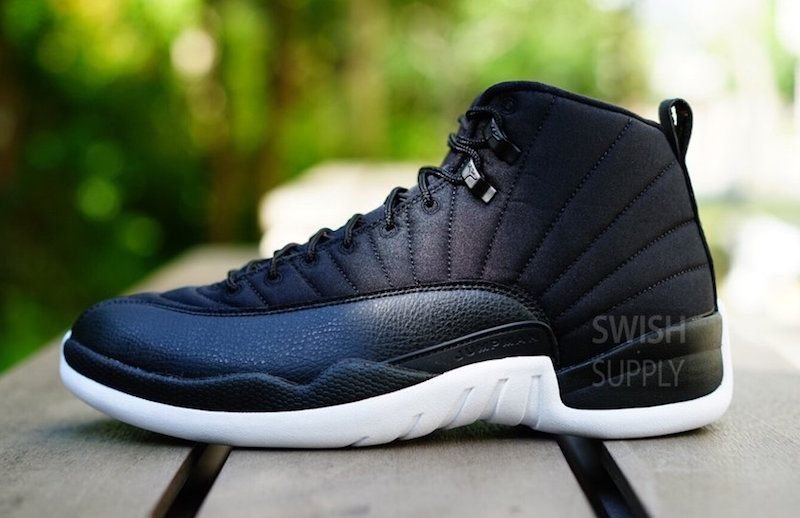 Another Look At The Upcoming Air Jordan 12 Black Nylon