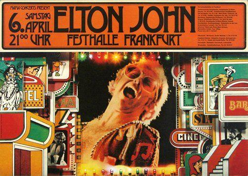 Elton John - Caribou 1974 - Poster Plakat Konzertposter