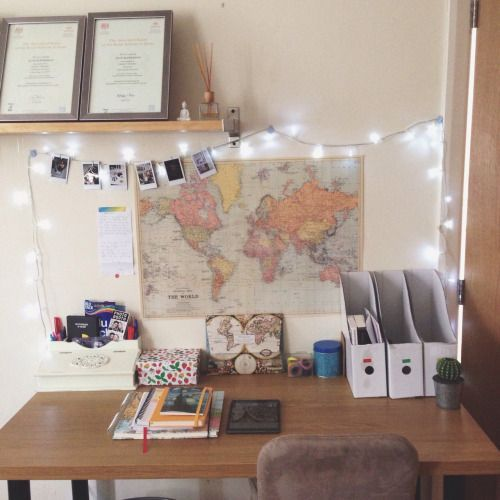 "Decorating Ideas For Study Spaces: Milst0ne: "" Step 1 (tidy And Organised Study Space) ️"