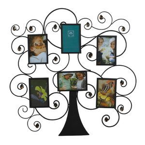 Picture Frame Walmart Melannco 6 Family Tree Amber Gem Collage