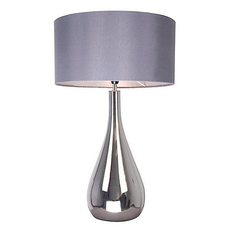 Home collection claire silver glass tall table light
