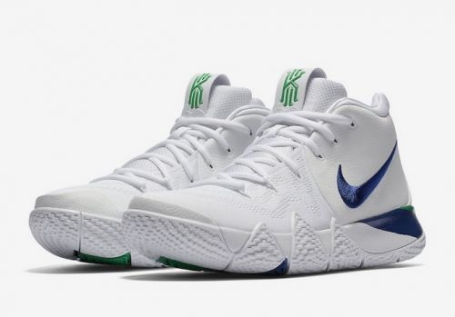 e341a153668 Woar them once playing basketball. Discount Nike Kyrie 4 White Deep Royal  Blue - Mysecretshoes