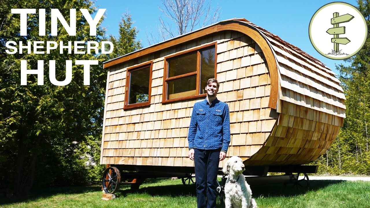 in this video we take a tour a modern shepherd hut with dylan