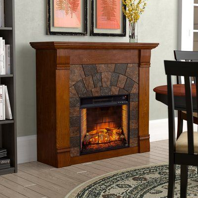 Alcott Hill Shanks Cottage Country Fireplace Fireplace Inserts Electric Fireplace Insert Infrared Fireplace