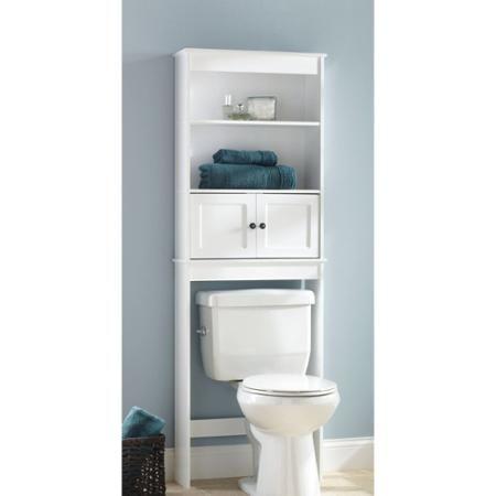 Hawthorne Place White Wood Spacesaver Bathroom Shelf Walmart Com Bathroom Space Saver Bathroom Space Toilet Storage