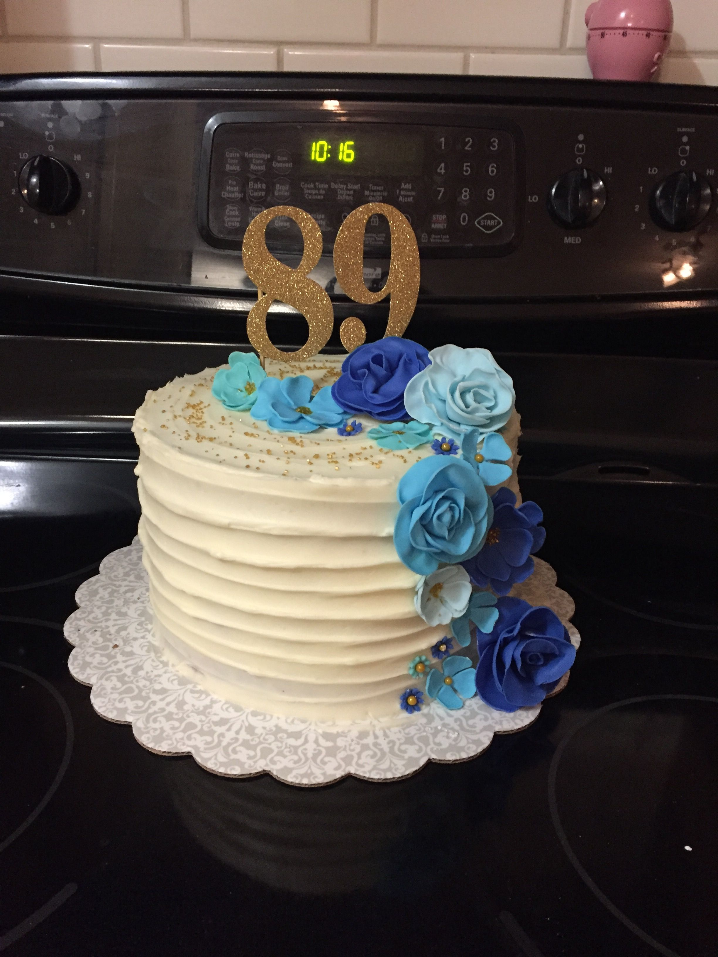 89th Birthday Cake Cakes Pinterest Birthday Cakes Cake And