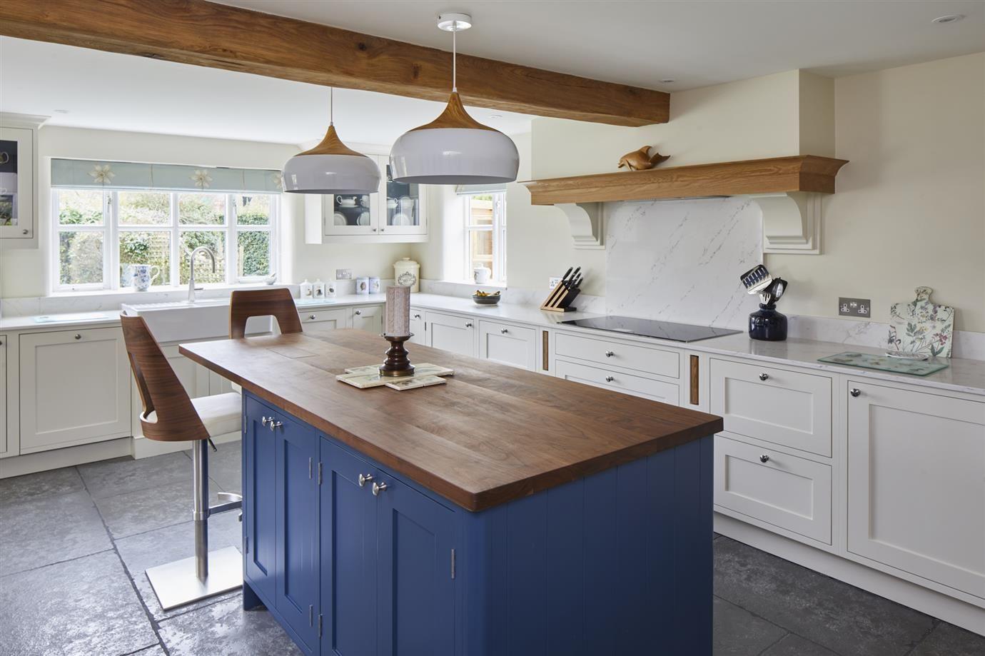 Best Farrow Ball Inspiration Stiffkey Blue Kitchen 640 x 480
