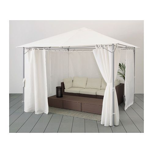 karls partytent met gordijnen wit balkon pinterest pavillon garten und gardinen. Black Bedroom Furniture Sets. Home Design Ideas