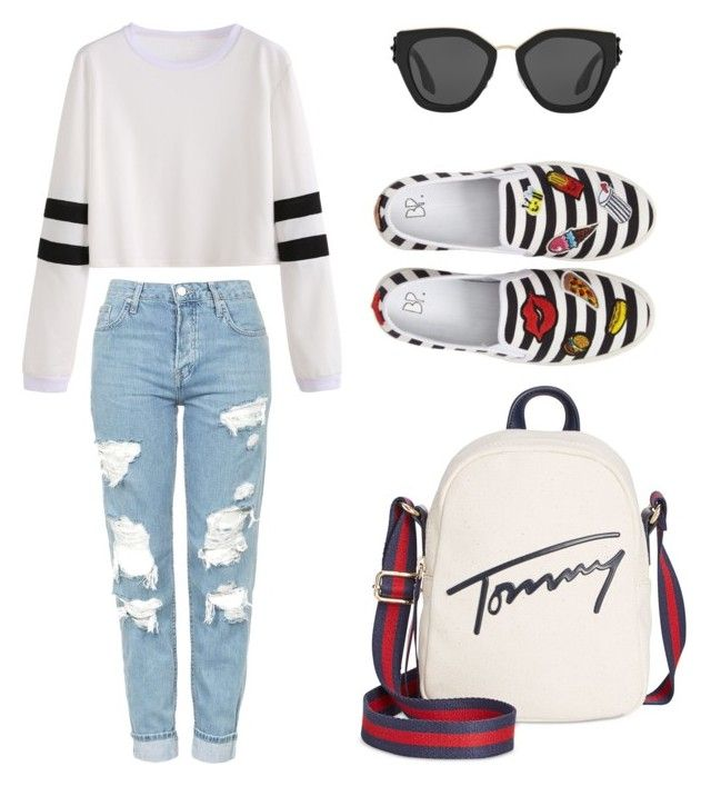 """""""If you're even going out for pizza, be fashionable"""" by dxrinafxhs on Polyvore featuring Mode, BP., Topshop, Tommy Hilfiger und Prada"""