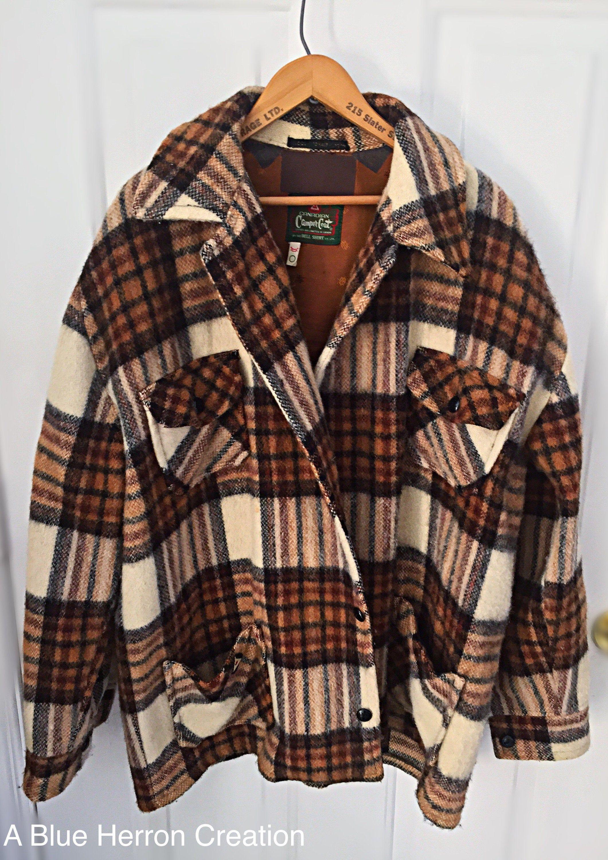 Vintage 1960s Wool Mohair Men S Coat Large To Xl Canadian Camper Coat Flannel Plaid Men S Coat Mens Coats Plaid Flannel Coat [ 3000 x 2121 Pixel ]