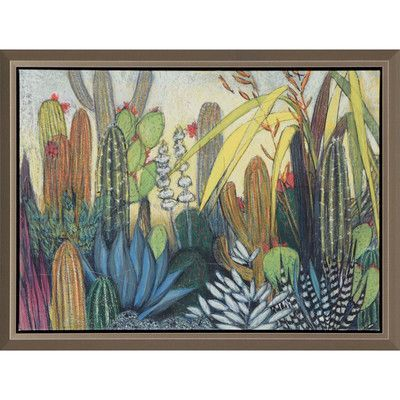 Paragon Succulents Framed Painting Print