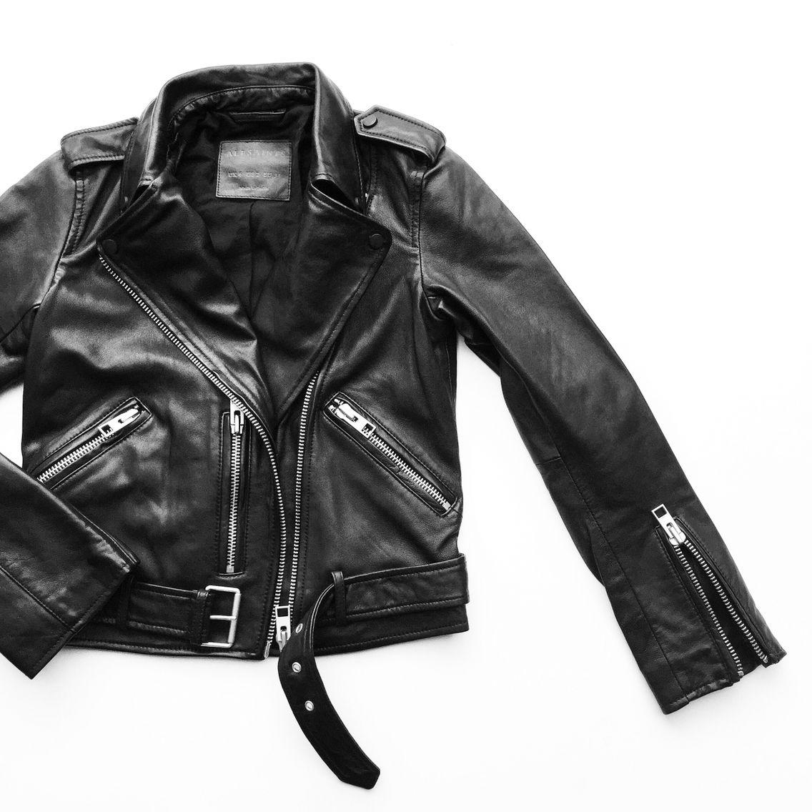 84eeeff83bf3 All Saints Leather Jacket. Flat lay - OVRSLO