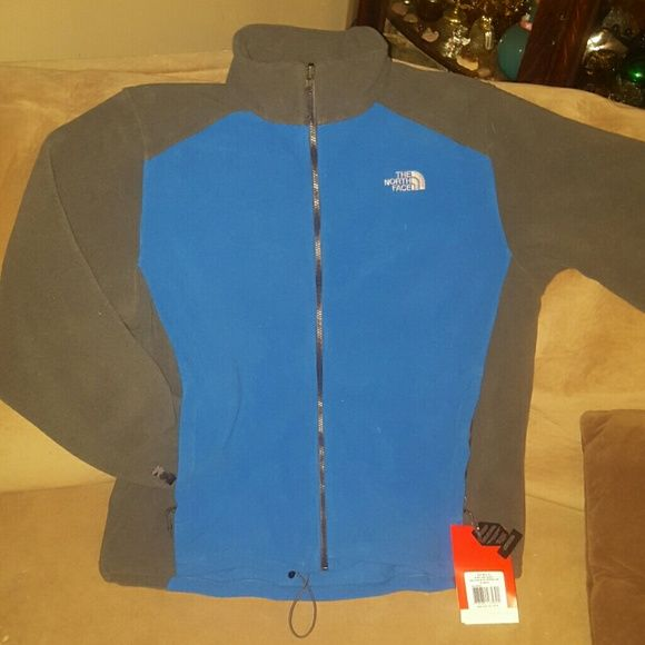 Northface jacket. Fleece Northface jacket brand new never been worn atill has tags on it. Something to keep you warm and comfy through the storms ahead!   ^-^  <3 North Face Jackets & Coats Utility Jackets