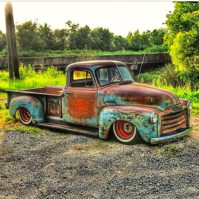 Kevin Hulk On Instagram Lsswap Ls Oldschool 53 Bagged Bodied Patina Ratrod Hotrod Gmc Truck Vintage Trucks Classic Chevy Trucks Classic Trucks