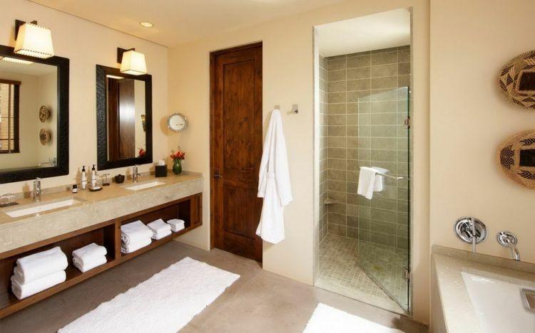 Couleur salle de bains u2013 idées sur le carrelage et la peinture - carrelage en pierre naturelle salle de bain