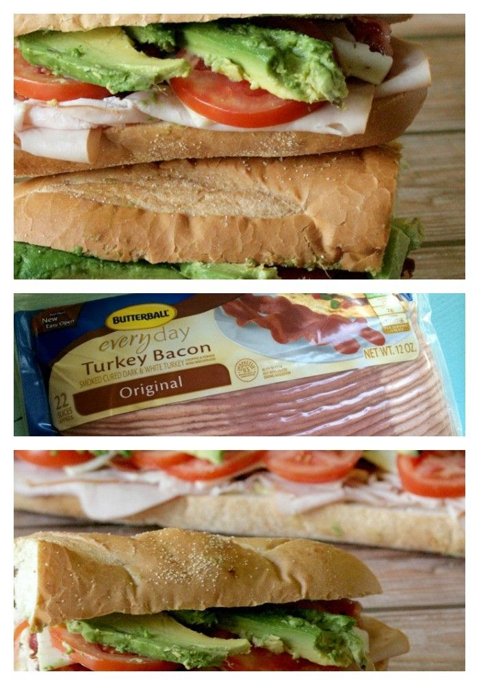 Like a little turkey? Enjoy this scrumptious California Club Sandwich that is loaded with oh so good ingredients like turkey, turkey bacon, and veggies.
