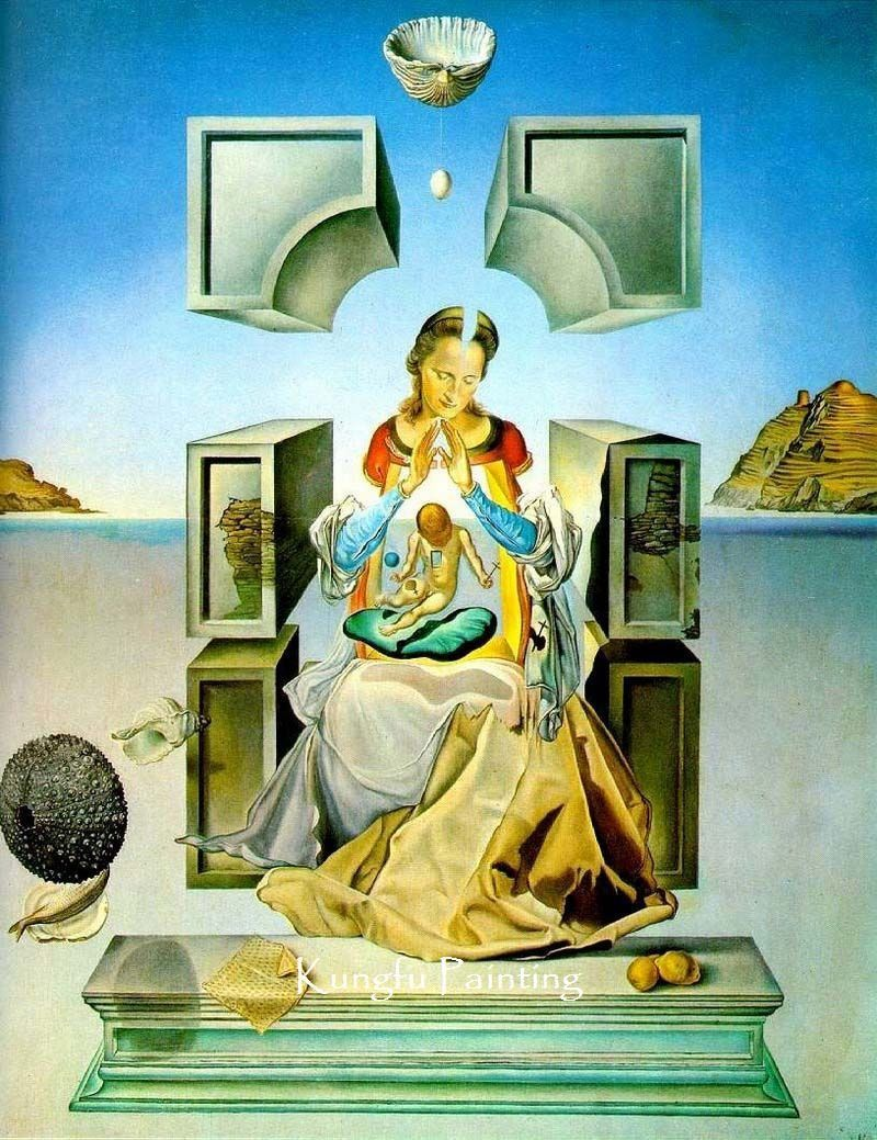 100% handpainted salvador dali painting madonna wall art canvas high ...
