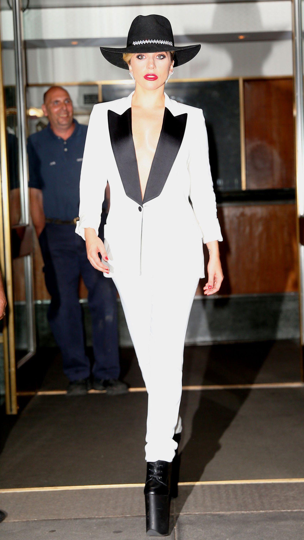 "f2716bc02e26 Lady Gaga Channels Michael Jackson s ""Smooth Criminal"" — Vogue"