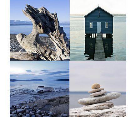 Set de 4 l minas de 30 x 40 cm piedras zn 4 leroy merlin dec oraci n comedor pinterest - Canvas leroy merlin ...