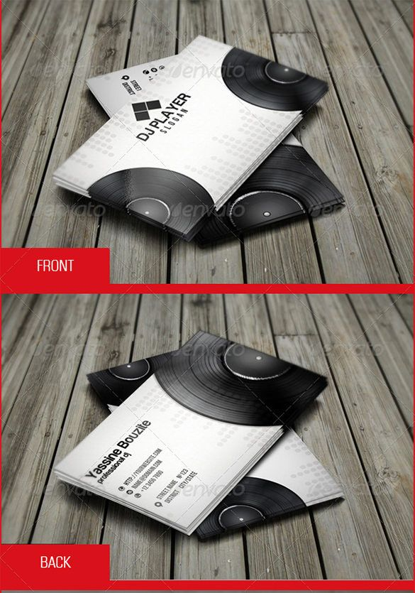 18+ DJ Business Cards – Free PSD, EPS, AI, InDesign, Word, PDF ...