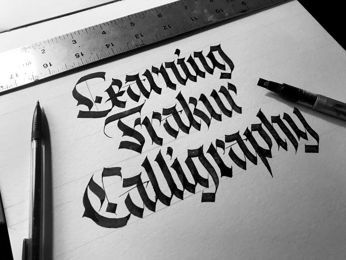 Fraktur calligraphy guide for beginners 2021 lettering