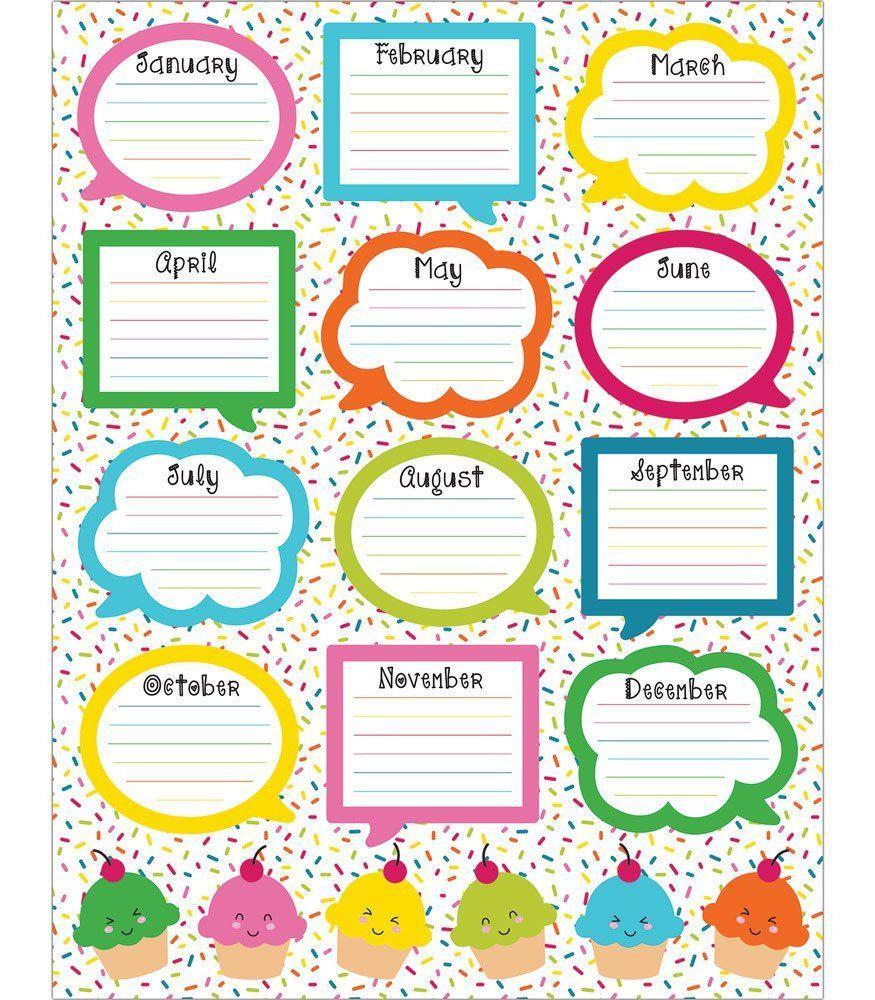 Classroom Decoration Charts ~ School pop birthday chart charts and
