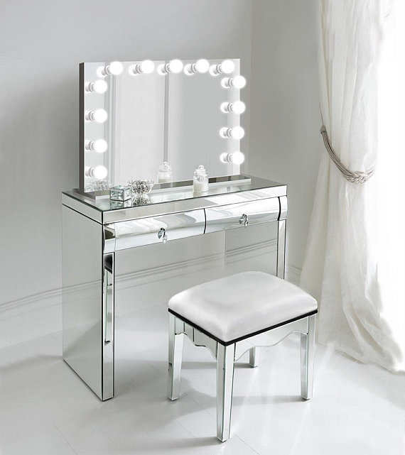 31 Quot X 25 Quot Lighted Glam Vanity Mirror Led All Mirror