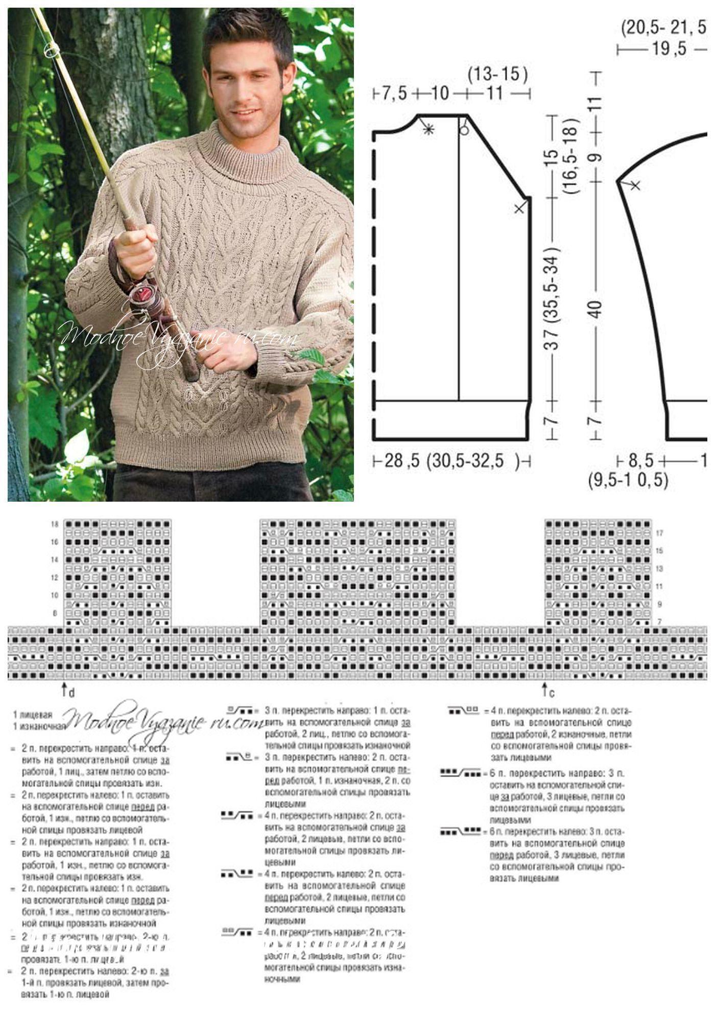 Вязание плеч спинки