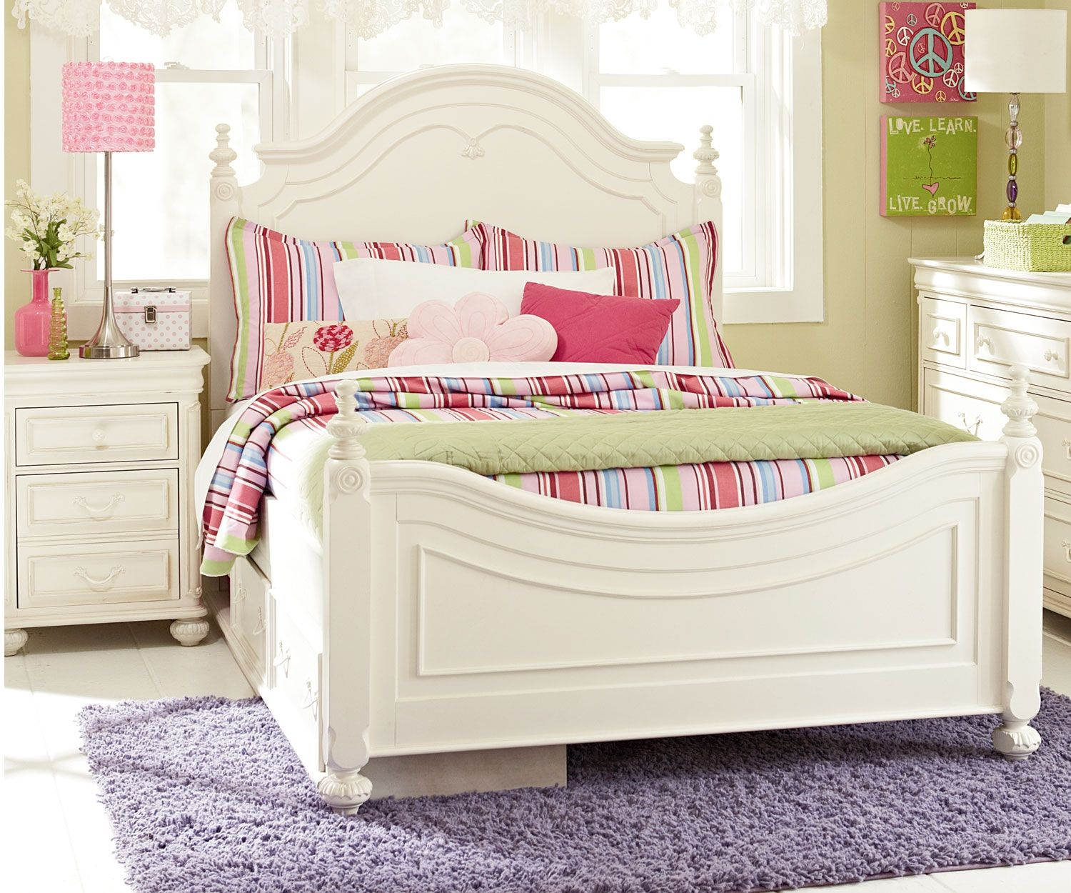 Legacy Classic Kids Furniture Charlotte Poster Bed Full Size 3850 ...