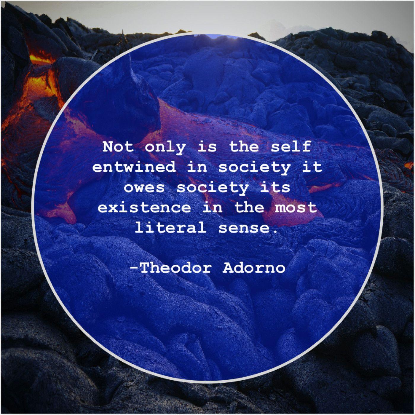 Theodor Adorno Not Only Is The Self Helen Keller Shawn Johnson Morgan Freeman