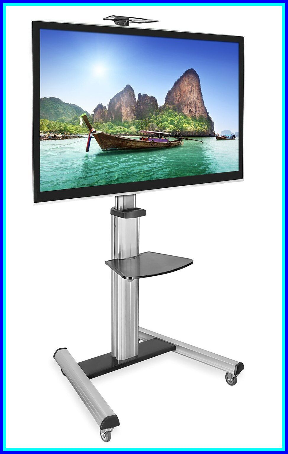 70 reference of onkron mobile tv stand with mount rolling