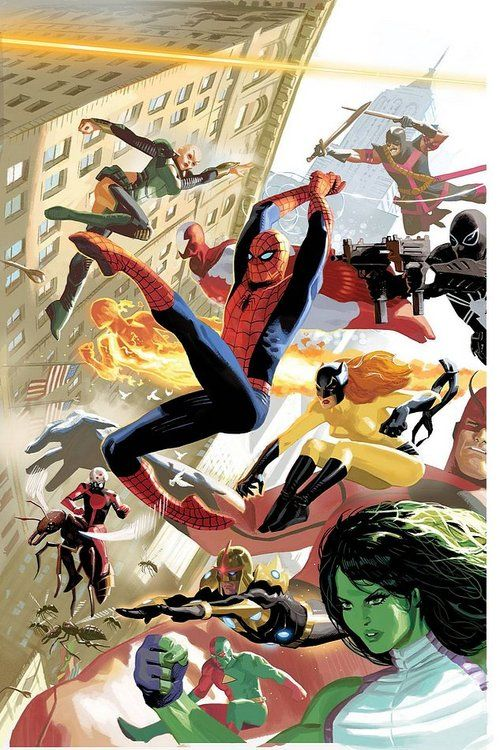 avengers moondragon swordsman spiderman jim